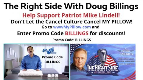 Mike Lindell My Pillow ad pic PROMO CODE BILLINGS 1